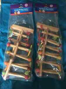 2 WOODEN PARROT LADDERS - BRAND NEW
