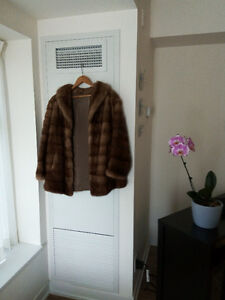 Trendy and beautiful fur jacket made of mink