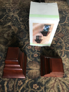 Wall Sconces for Photo Frames, Candles - Beautiful Mahogany