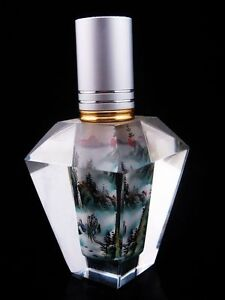 Ship-From-U-S-Peking-Glass-Inside-Hand-Painted-Polygon-Perfume-Bottle
