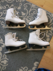 Girls figure skates.