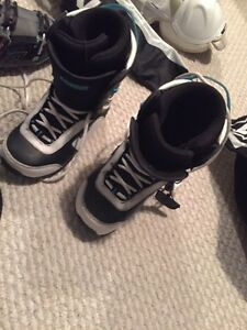 Snowboard boots and board Strathcona County Edmonton Area image 1