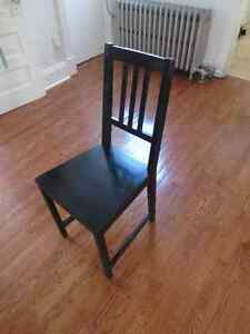Black Wooden Chair Cambridge Kitchener Area image 2