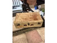 Shabby Chic Vintage Trunk Style Coffee Table