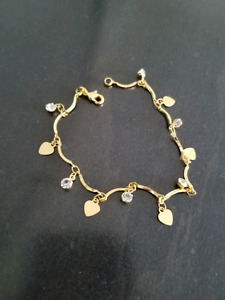 2 gold color bracelets for $20