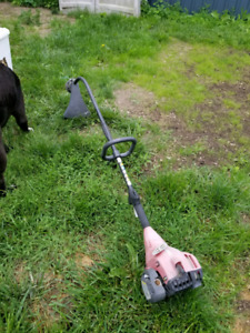Curved shaft weed whacker