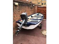Boat 14ft with outboard