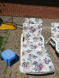 2 Lounge  chairs with cushions