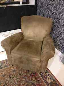 Brown suede couch seat/chair