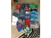 Large bundle of boys clothes aged between 10 -12