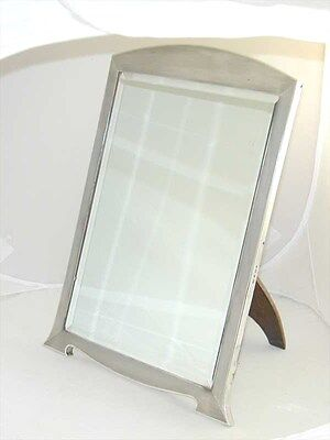 Mappin & Webb 1937 Art deco large dressing table mirror sterling silver