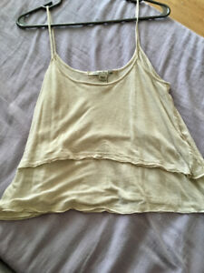 Layered white tank top front urban outfitters!