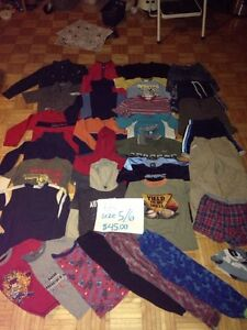 SIZE 5/6 BOYS CLOTHING PILE- approx 40 items