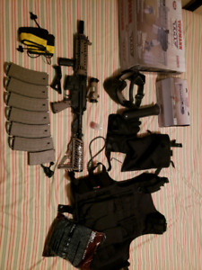 Milsim paintball kit for sale (Used 2 times on the field)