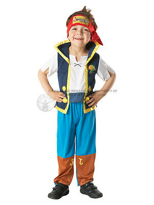 Child Disney Jake And The Never Land Pirates Fancy Dress Costume Kids Boys - Kostüm Anderen Land