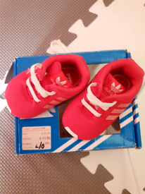 Adidas size 1 baby trainers