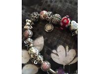 Genuine Pandora bracelet with all genuine charms