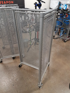 Opto International Display Racks 3 sided all Metal w Casters