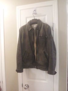 Men's Banana Republic leather distressed jacket