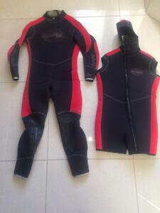 Wetsuit de plongée bare elastek 2x7 mm homme