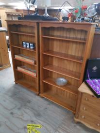Modern Pine Bookshelf x2