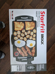 Starfrit Rock Family size Electric Griddle