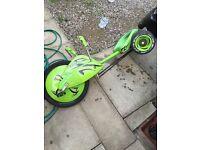 Big wheel green machine