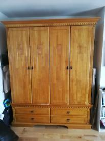 Bedroom furniture set. Solid wood complete suite.