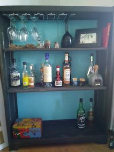 Bookshelf Display Shelf Liquor Cabinet