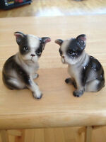Vintage Boston Terrier Salt And Pepper Shakers Japan