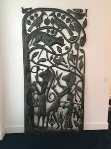 Large Haitian Metal Wall Sculpture / Sculpture en metal d'Haiti