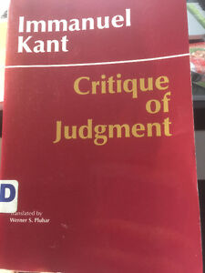 sell crituque of judgement and many other philosophy books