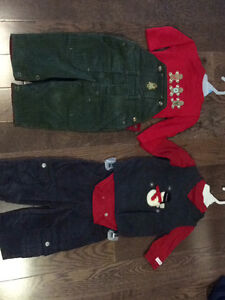 3-6 months boys Christmas outfits
