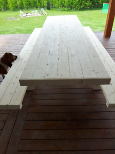 Custom  built Picnic tables  &  Benches