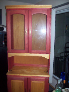 PINE BUFFET AND HUTCH..