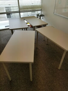 Office furniture: chairs, desks, tables, bookcases.