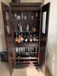 Beautiful Large Bar Cabinet in Wenge