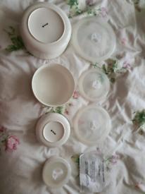 4 storage pots