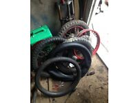 3 front pitbike wheels