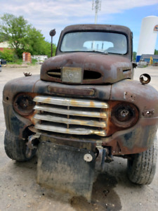 1949 mercury pickup on 1 ton chev chassis