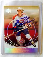 Autographed Guy Lafleur Montreal Canadians card