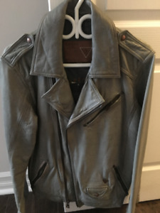 BRAND  NEW  GUESS  LEATHER  JACKET