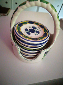 For sale a lovely hand painted basket of Little table