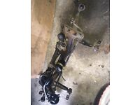 BMW. E30 front subframe and steering rack with pump