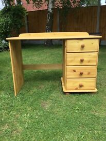 Waxed pine dressing table or desk