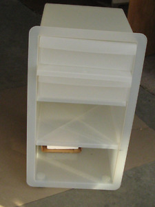 Smaller sized Plastic STORAGE CART on wheels