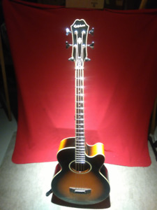 Epiphone El Capitan Acoustic/Electric Bass with CASE