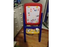 Child easel and chalks