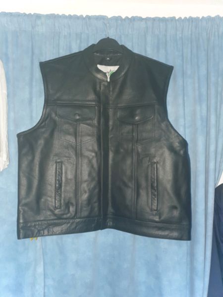 Leather biker cut  jacket brand new 5xl for sale  Whitchurch, Wales