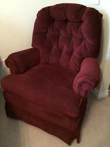 Burgundy Swivel Rocker
